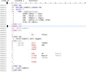 SQLRPGLE. Sql en ILERPG