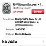 Notes Traveler. Correo,Agenda y Contactos Lotus en mi iPhone